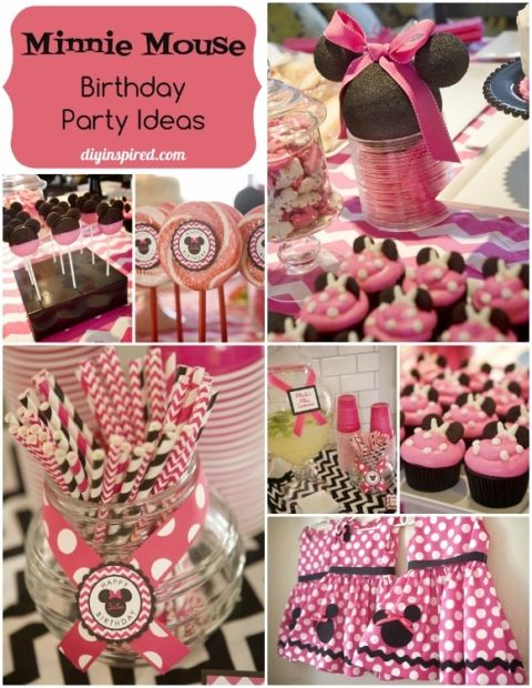 Minnie Mouse Birthday Party Ideas DIY Inspired