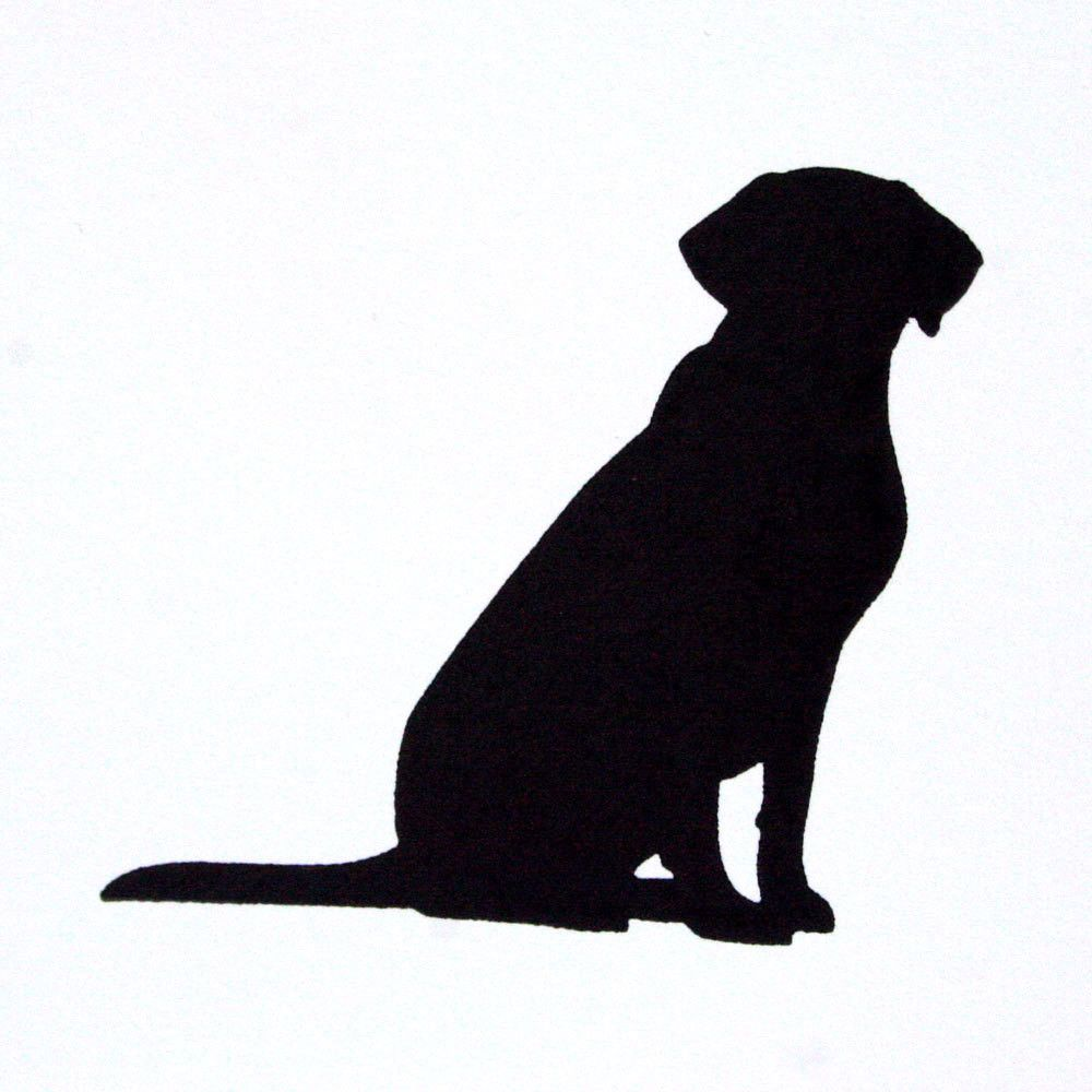 this listing is for a single card with a silhouette of a labrador retriever letterpress printed in black ink