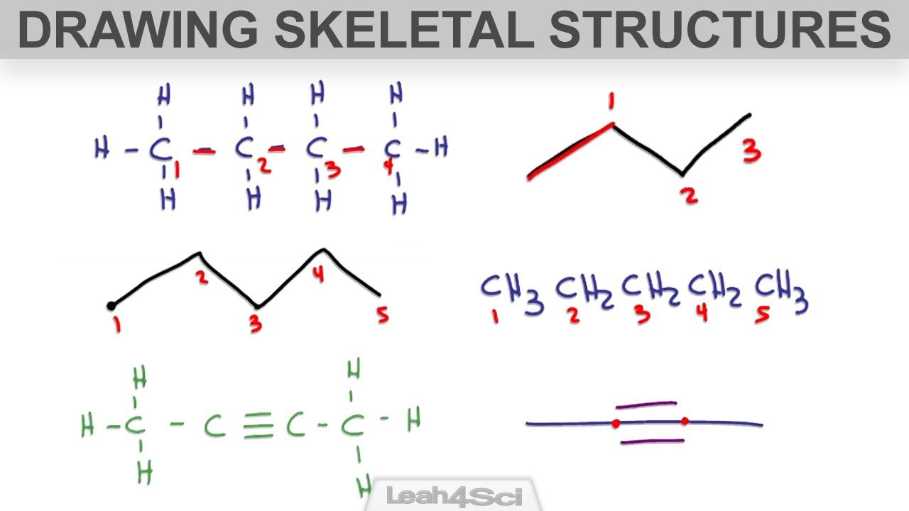 How to Draw Skeletal Structure or Bond-Line Notation for ...