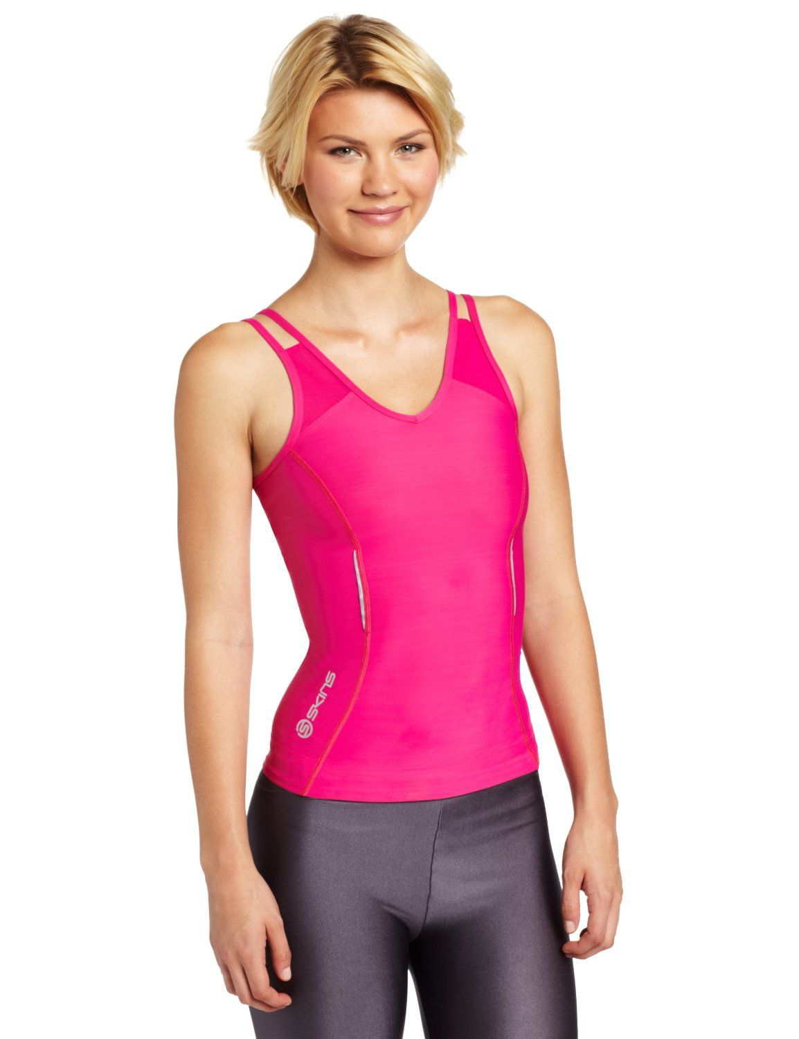 Amazon.com: Skins A200 Women's Compression Tank Top: Sports & Outdoors