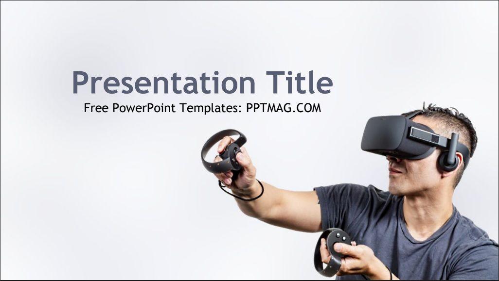Free Virtual Reality Tech Powerpoint Template Powerpoint Templates Powerpoint Templates