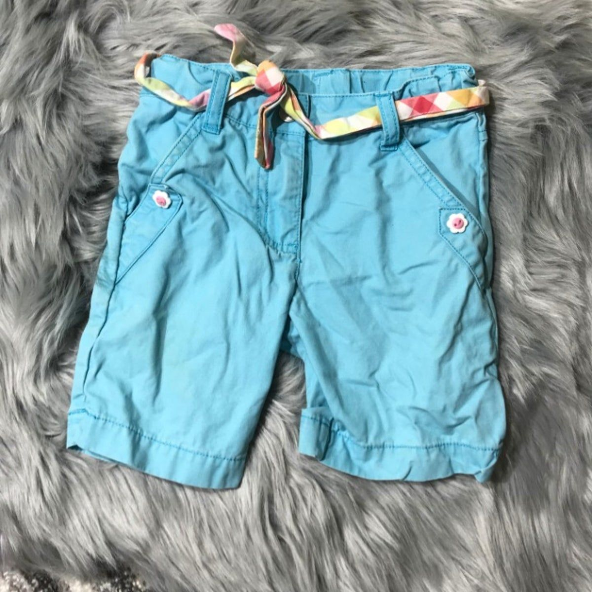 Gymboree light blue Bermuda shorts girl #lightblueshorts