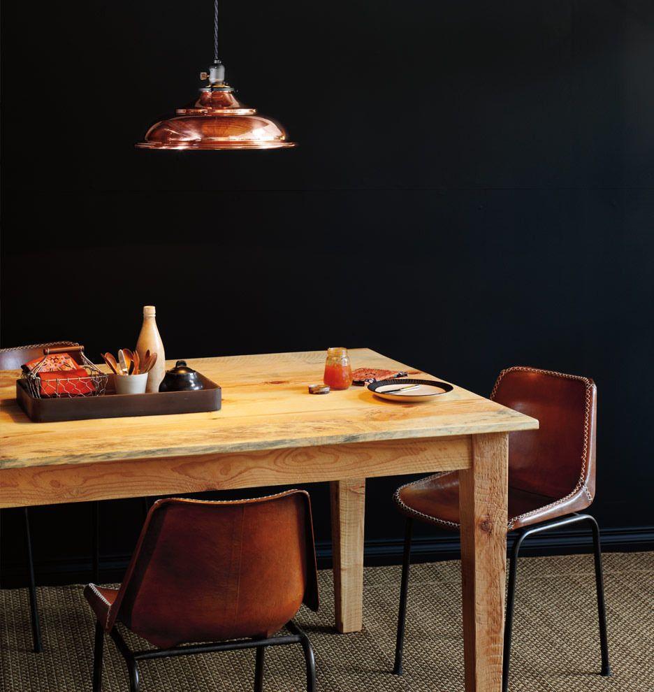 Leather Schoolhouse Chair