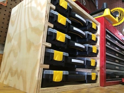 Idea For Storage Of Nails And Staples In Air Nailer Cabinet...easier To ·  Storage RackStorage BinsTool ...