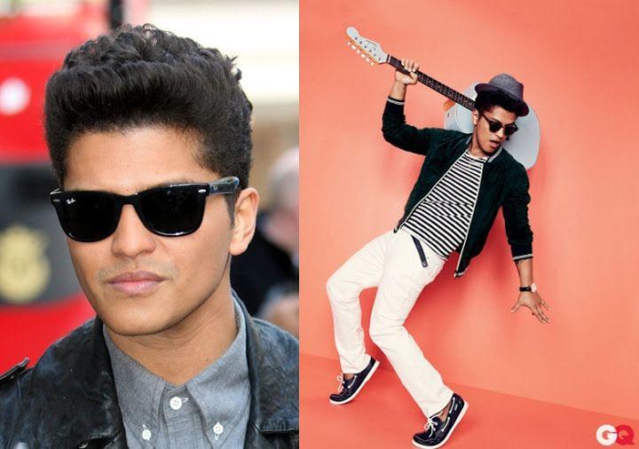 4ef99868f8 O estilo de Bruno Mars. B)  oculos  sunglasses  rayban  wayfarer  brunomars   style  cantor  celebrity