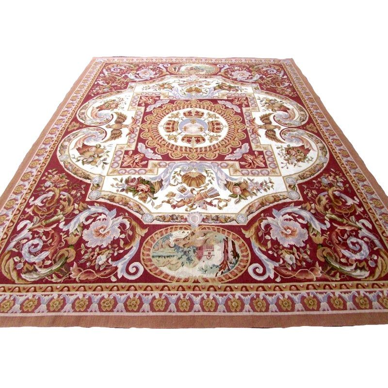 1980s Handmade Vintage French Aubusson Rug 8 2 X 10 6 In 2020 Aubusson Rugs French Vintage Rugs