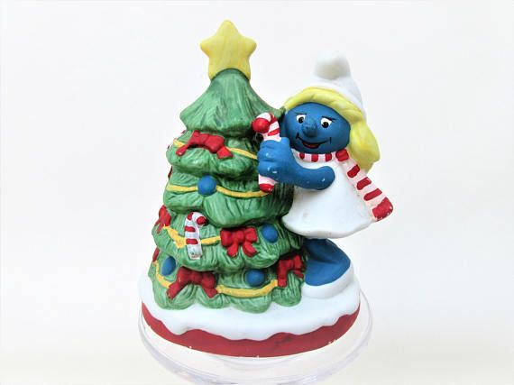 Vintage Smurf Figurine Christmas Smurf Figure 80s #Smurf #Christmas - Vintage Smurf Figurine Christmas Smurf Figure 80s #Smurf #Christmas