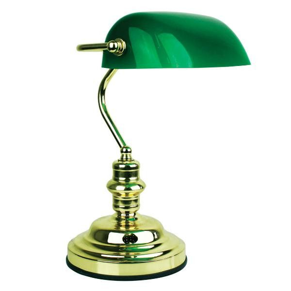 Bankers desk touch lamp polished brass luminous lamps our desk bankers touch lamp with dark green glass shade gloss brass oriel lightingtraditional style bankers lamp with a three stage touch dimmer aloadofball Choice Image