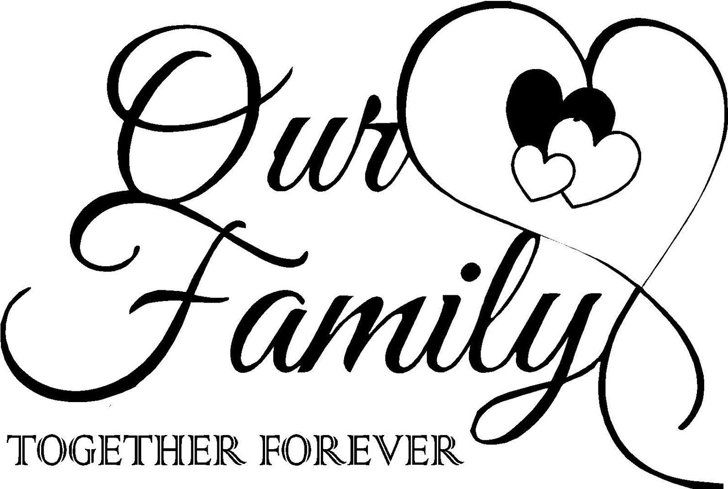 Quote-Our Family Together Forever With Hearts-special Buy