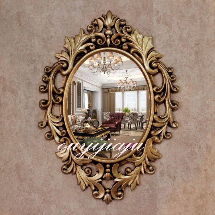 find more mirrors information about large big decorative cosmetic antique oval wall mirror with frame vintage - Home Decor Mirrors