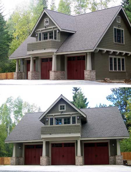 Plan AM Garage Cottage Studio Spaces And Craftsman - Craftsman garage with apartment above plans