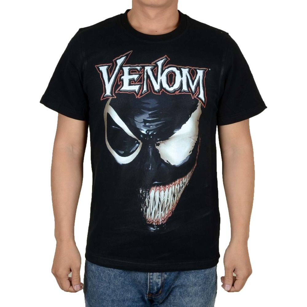 Free Shipping Buy Best Free Shipping Venom Edward Eddie Brock Spider Man Superman Marvel Comics Movie Cartoon Retr Marvel Shirt Comic Movies Shirt Online