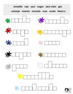 Colors Spanish Worksheets | Teaching Spanish! | Pinterest