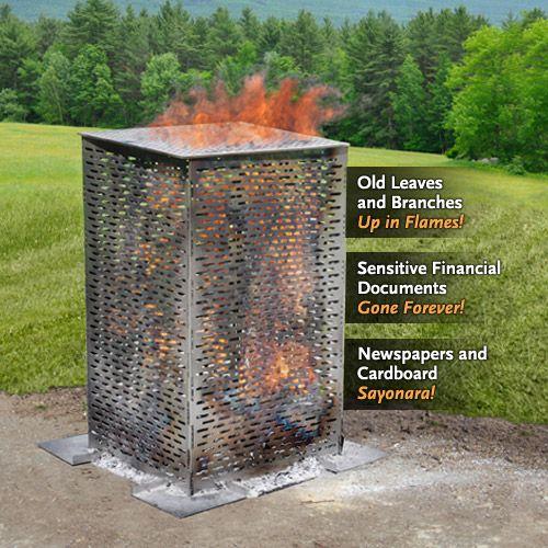 Burncage Burn Barrel Organic Gardening Tips Outdoor Fire
