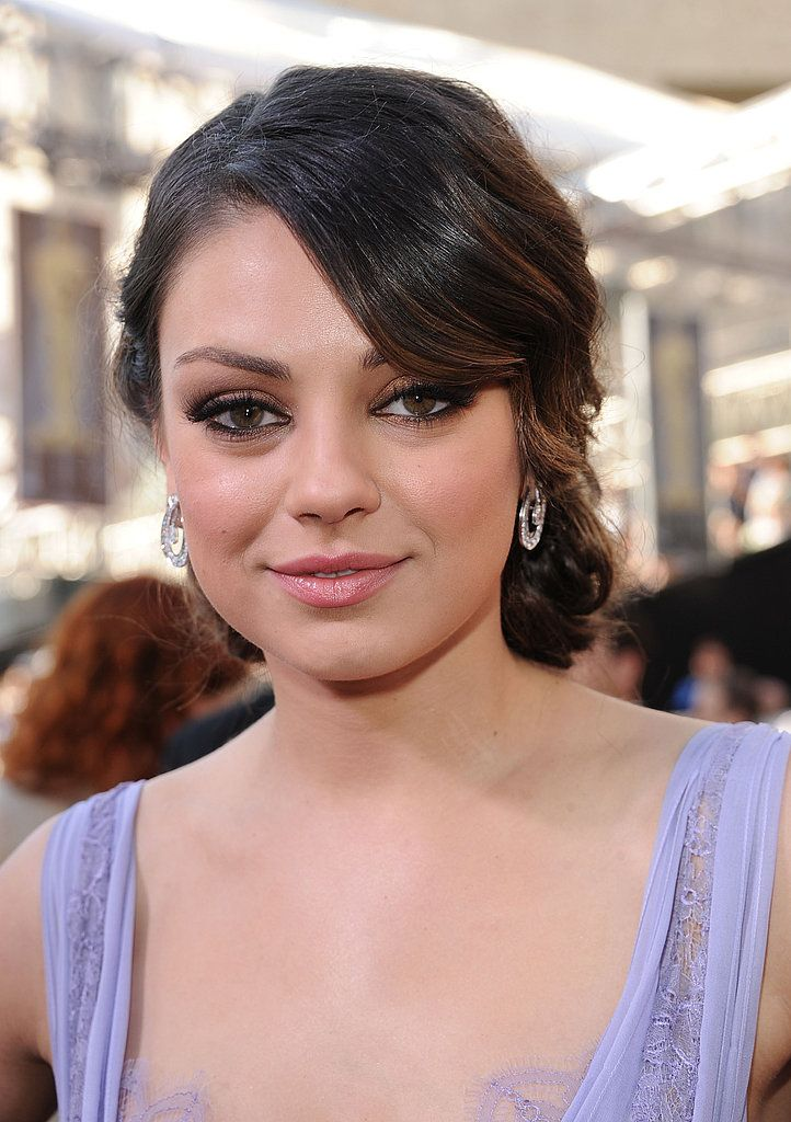Mila Kunis From The Side Mila Kunis Updos And Low Chignon