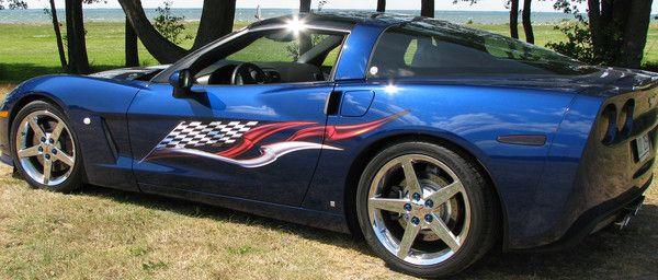 Car Truck Side Decals Vinyl Cut Wave Stripes Semi Trailer Graphics Style#1