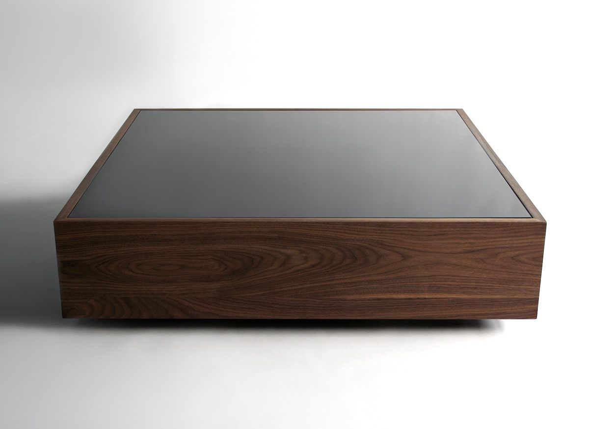 Masculine Rectangular Cofee Table With Wood And Black Glass Top By Reza Feiz Furniture Wood Coffee Table Design Coffee Table Design Large Square Coffee Table [ 874 x 1200 Pixel ]