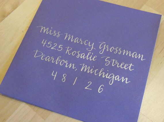 Koi Kalligraphia MARCY : Custom Wedding Calligraphy Envelope Addressing via Etsy