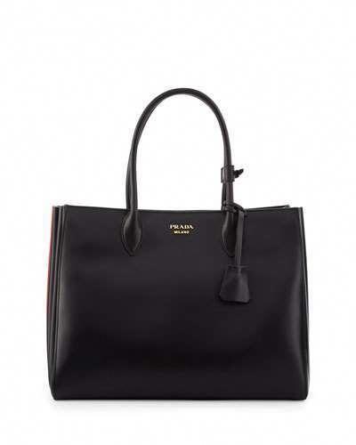 de42e2ec8 Prada Bibliothèque XL Leather Tote Bag, Black/Red (Nero+Fuoco)  #Pradahandbags