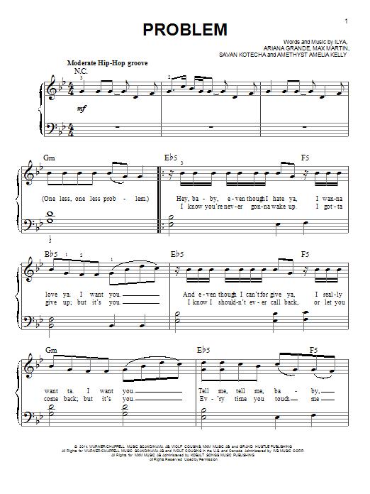 problem ariana grande e-chords s