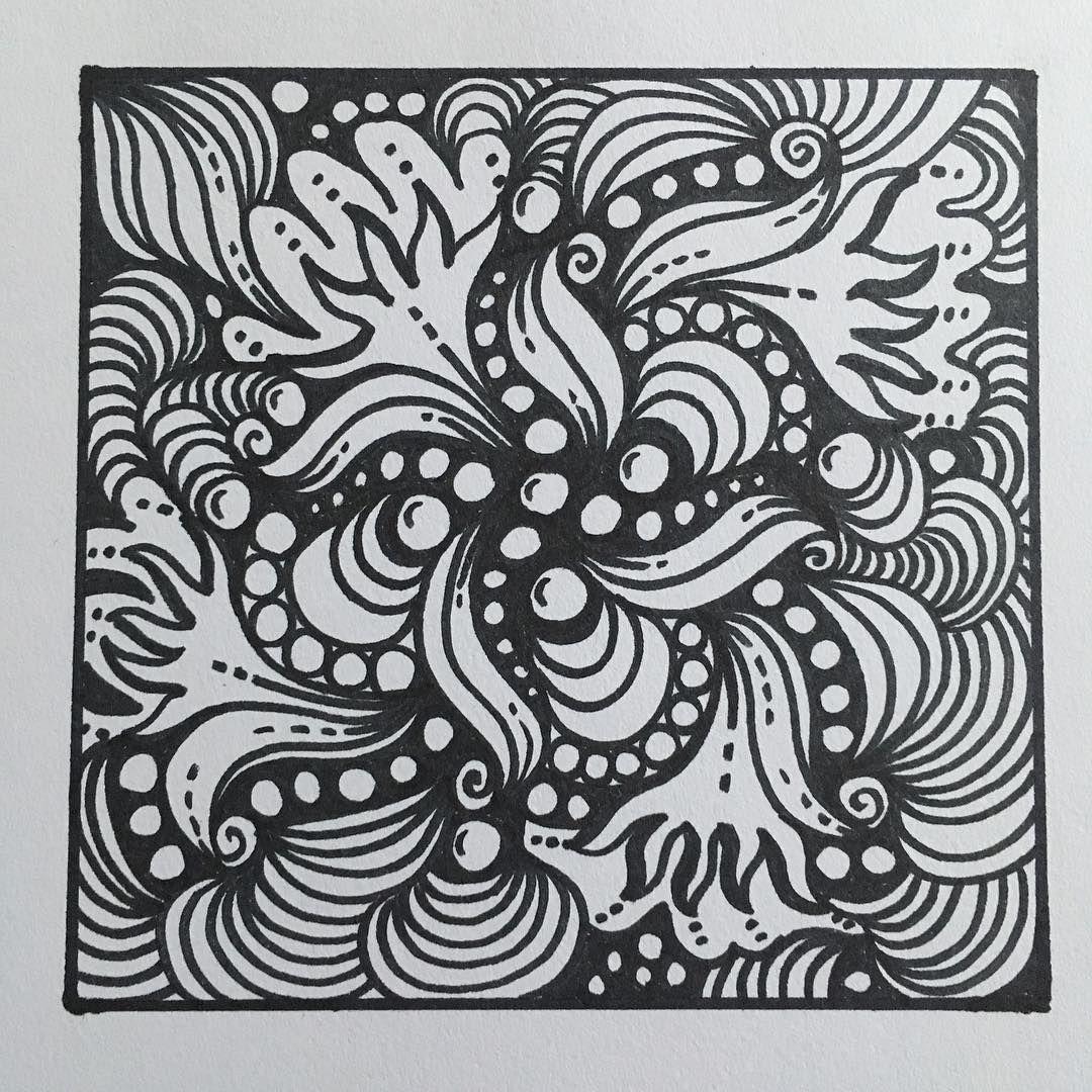 Zen Doodle Abstract Art