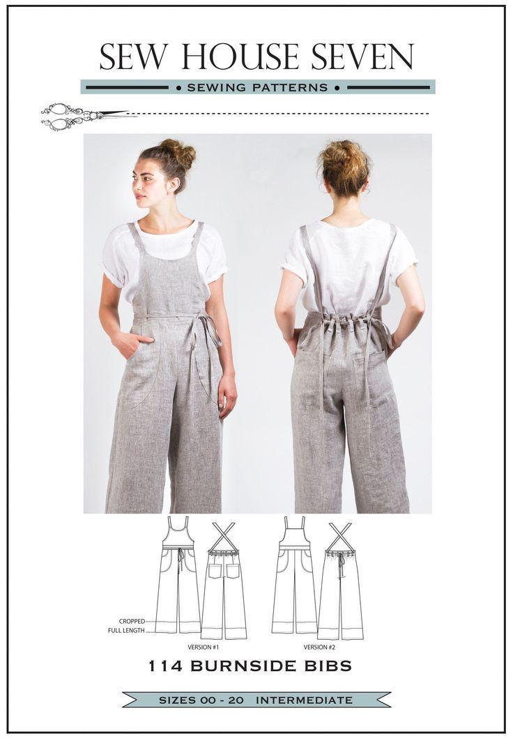 Photo of Burnside Bibs Sewing Pattern (pdf Pattern)