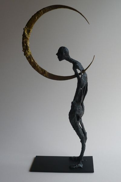 Tomohiro Inaba, In quella notte, 300x200x100, ottone e ferro, 2006