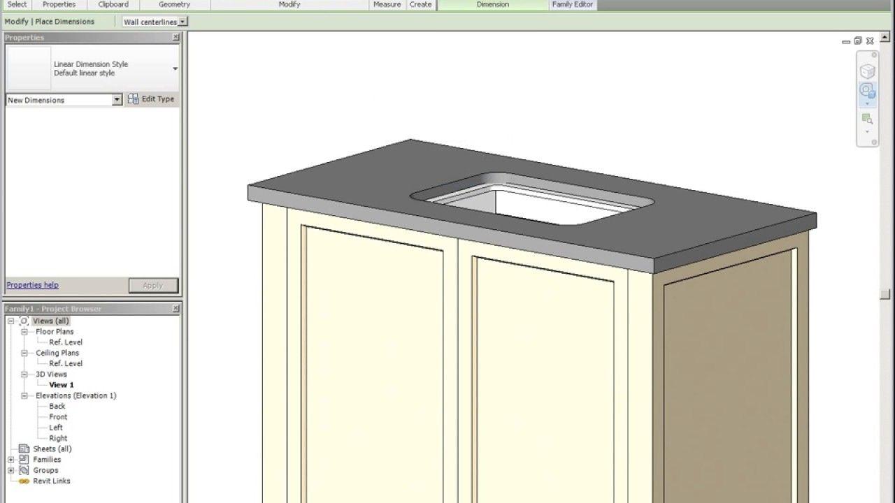 Modeling A Cabinet Family In Revit Kitchen Cabinets Kitchen Cabinets Models Kitchen Design Examples