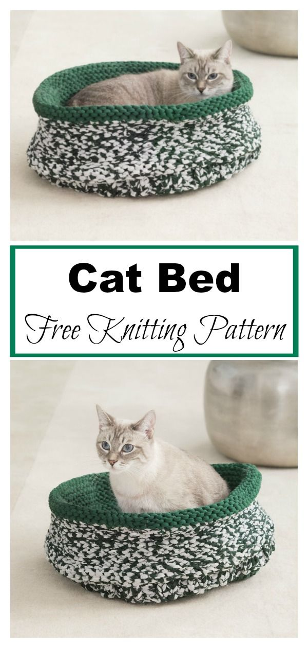 Simple Cat Bed Free Knitting Pattern | Free knitting ...