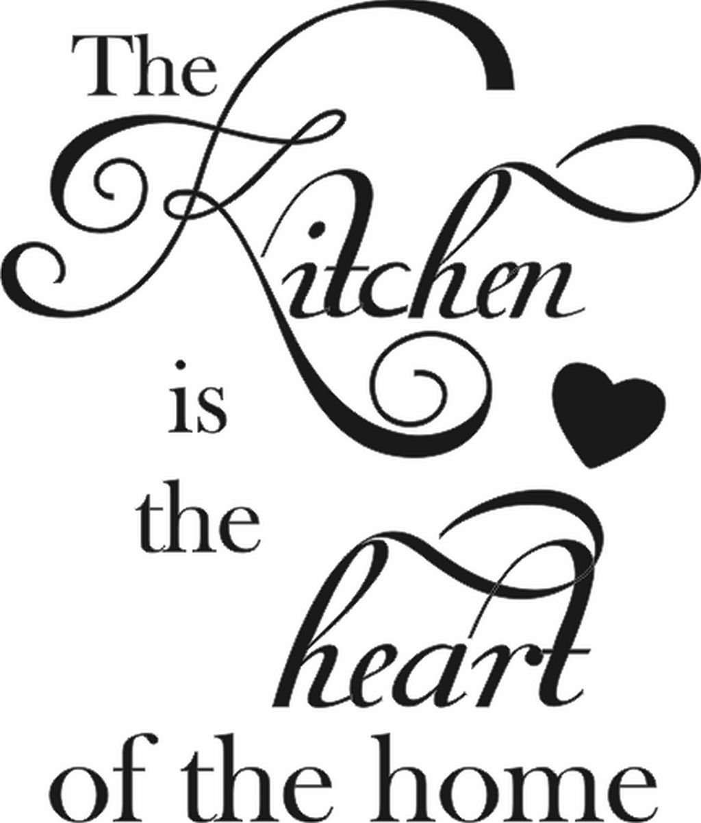 The Kitchen Is Heart Of Home Vertical Quote Walls Quotes Inspirational Positive Prints