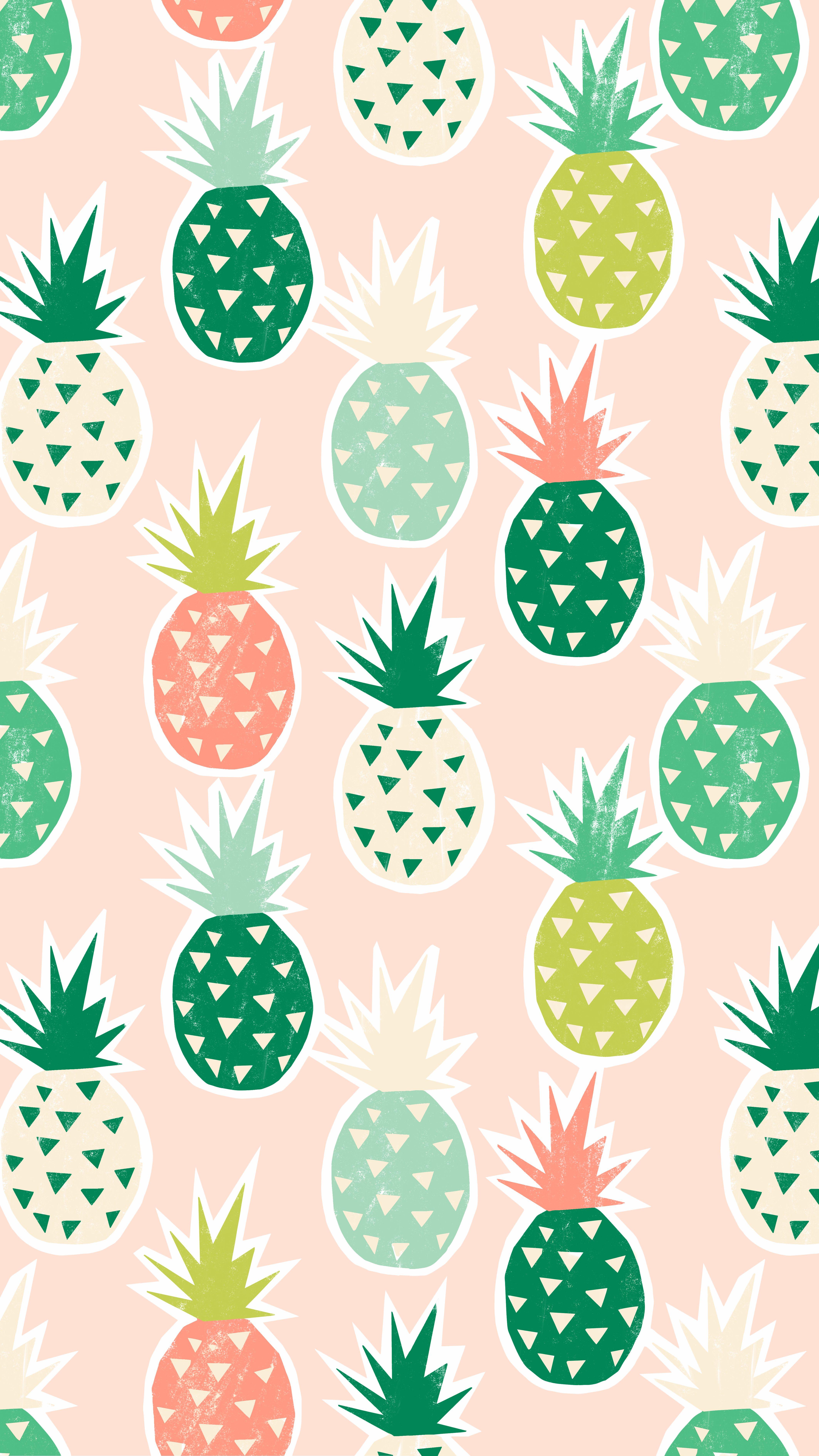 Pineapple Paradise Print Greetabl Pineapple Wallpaper Desktop Wallpaper Art Blush Wallpaper