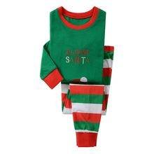 High Quality Christmas Sets Kid Sleepwear Clothing Set I Love Santa Printed Boy and Girls Pajamas Sets Christmas Clothing Set(China (Mainland))