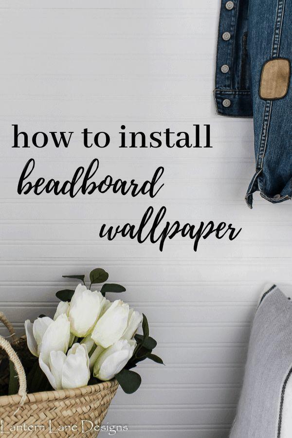 How to hang beadboard wallpaper (horizontally!) (With