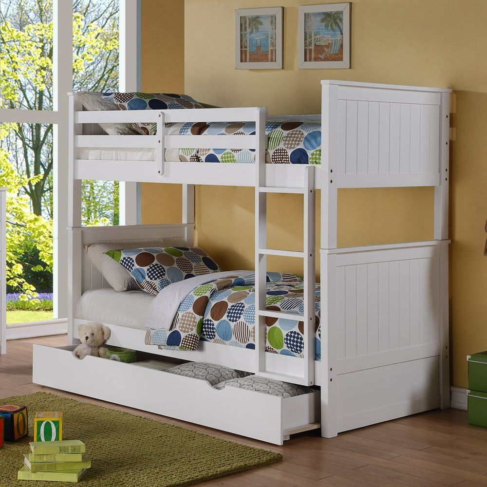 Loft bed with desk and trundle  TwinTwin Bunk Bed with Storage  Bunk bed Twins and Storage