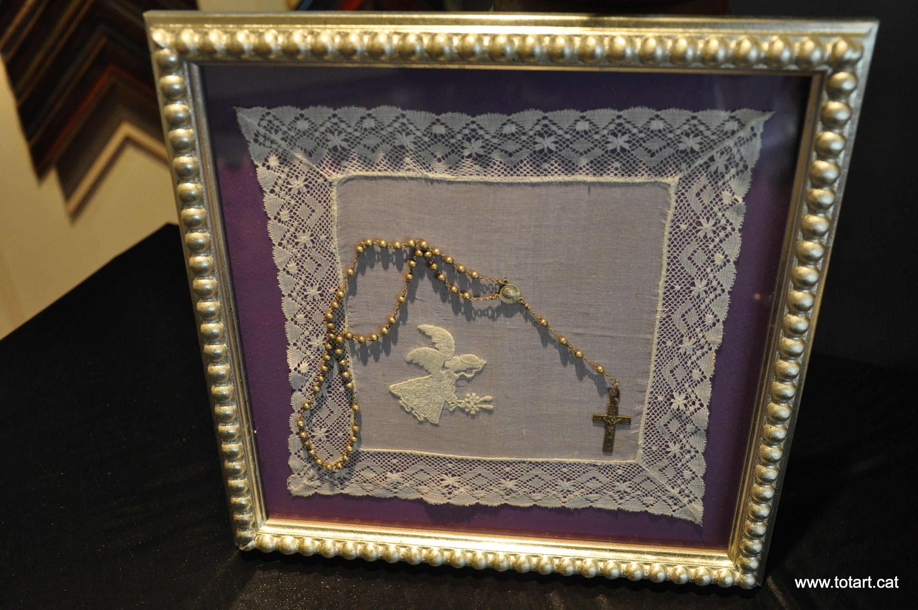 Marco para pañuelo y rosario Enmarcar Recuerdos de vue…   Marcos ...
