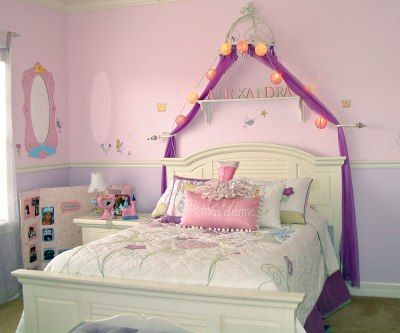 girls princess themed bedroom kids room decorating ideas - Girls Kids Room Decorating Ideas
