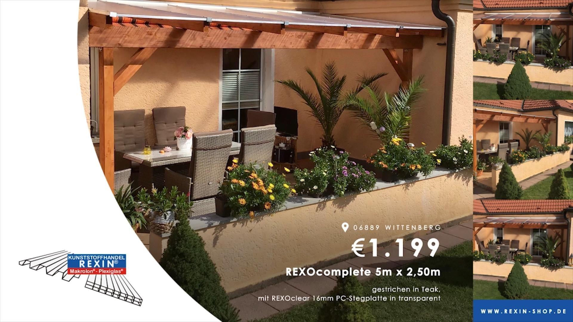 Holz Terrassendach selbst bauen (Kundenbilder KW 47/2019)