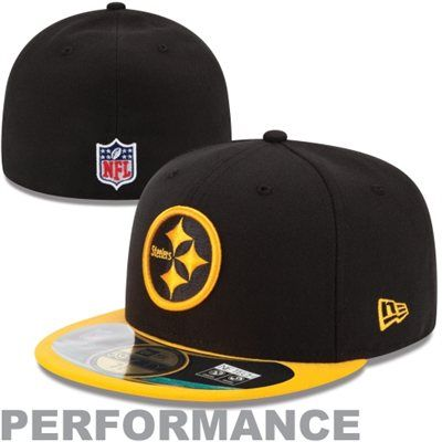 New Era Pittsburgh Steelers Thanksgiving Day 59FIFTY Fitted Performance Hat  - Black Gold 6e3378669b1