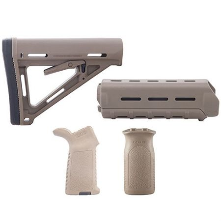 Magpul AR 15/M16 MOE Carbine Mil Spec Furniture Set   FDE