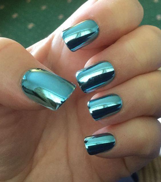 nails #unhas cromadas metalicas. Super Fashion!   Uñas.   Pinterest ...