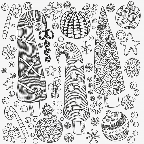 Christmas Coloring Anti Stress Therapy 3 Adult And