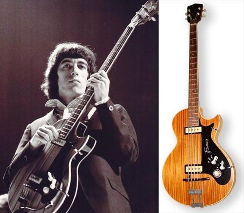 Bill Wymans Framus Bass. Made in Germany; Used during the 60's. Wyman also used Vox tear drop basses.