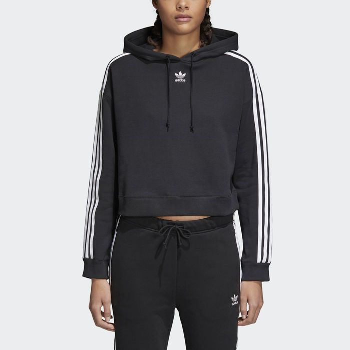 adidas Originals Trefoil Cropped Hoodie Sweatshirt Color