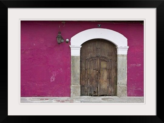 Guatemala Antigua Ornate Wooden Doors Of Home In The Town Of Antigua In 2020 Wooden Doors Ornate Pictures To Paint