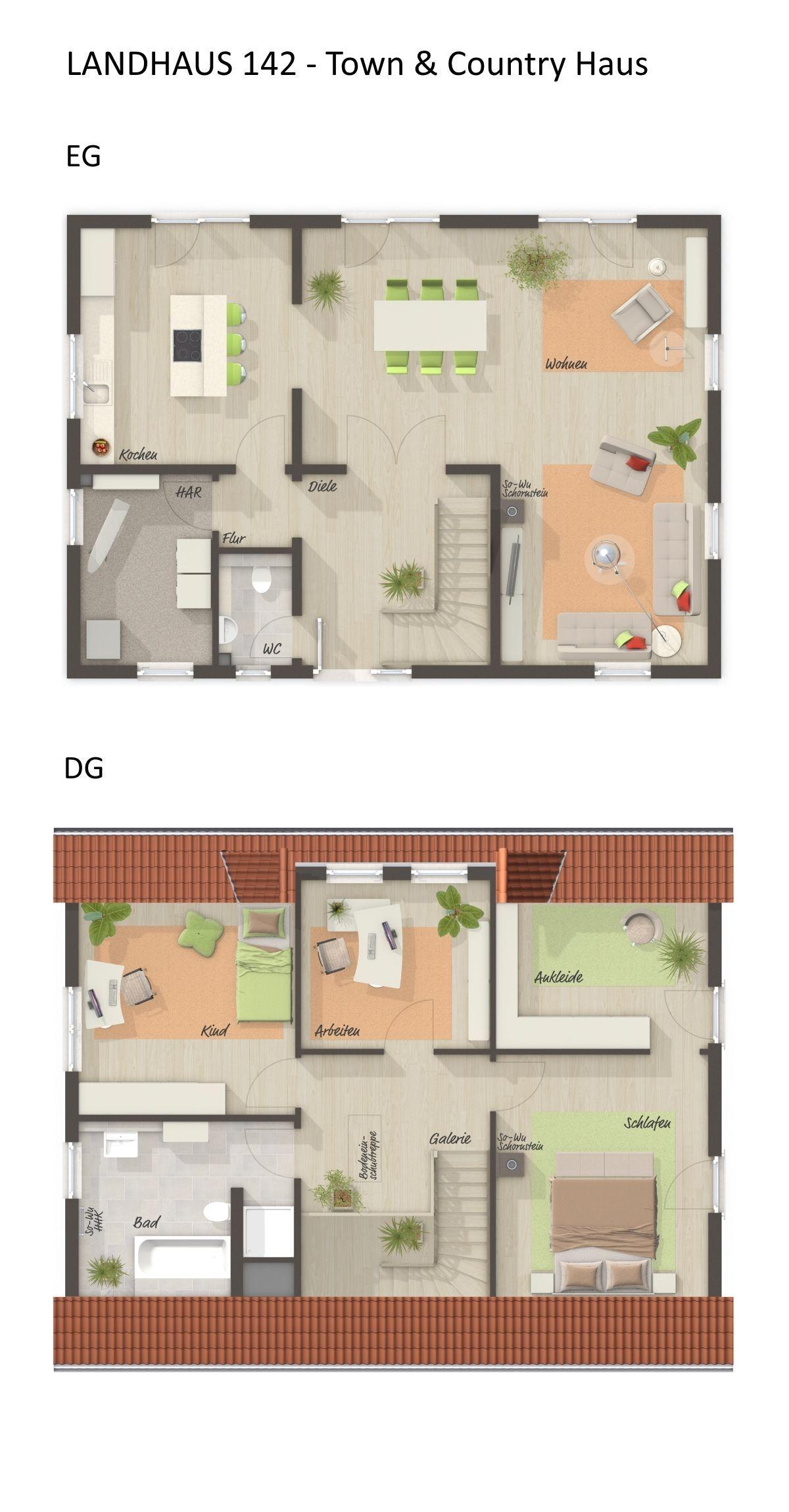 Grundriss Einfamilienhaus mit Satteldach Architektur - 4 ...