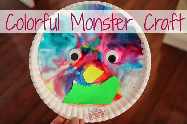 Colorful Paper Plate Monster Craft Coffee Filters Crafts