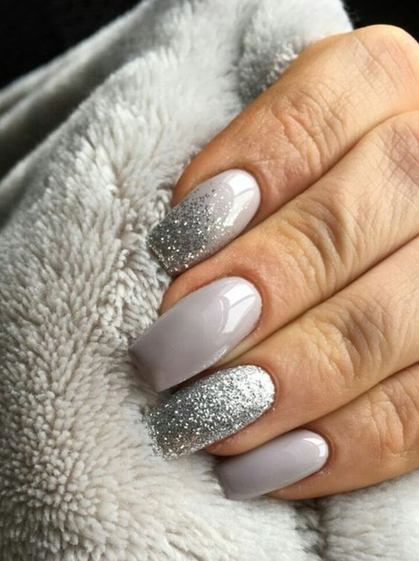 25 Perfect Winter Nail Designs To Make You Feel Warm With Images Dark Color Nails Silver Nails Luxury Nails