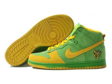 super popular c3ba9 575a3 Nike Dunk High Lucky Bee Mickeys Malt Liquor Yellow Green