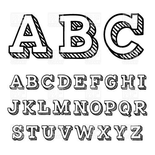 Simple Typography Alphabet