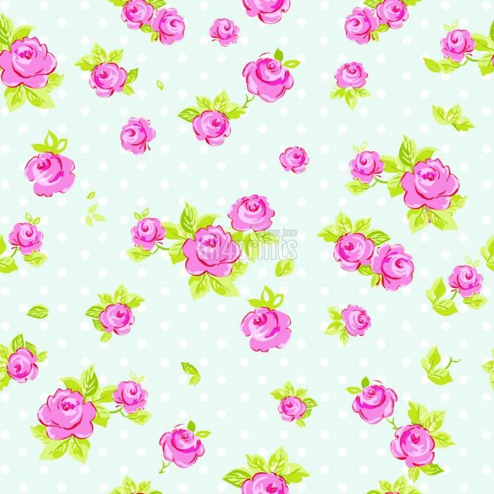 Elegance Seamless Wallpaper Pattern With Of Pink Roses On Blue Background Vector Illustration By Aleksey Vl B Via ShutterStock